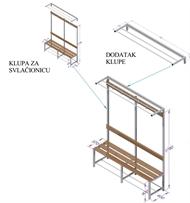 LOCKER ROOM BENCH  MODEL K1