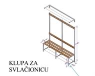 LOCKER ROOM BENCH K1 L=1500 H=1790 mm