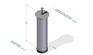 NOGA PODNICE FI 60 mm REGULIRAJUĆA H= 250-300 mm