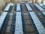 Medex chairs and tables for furnishing halls